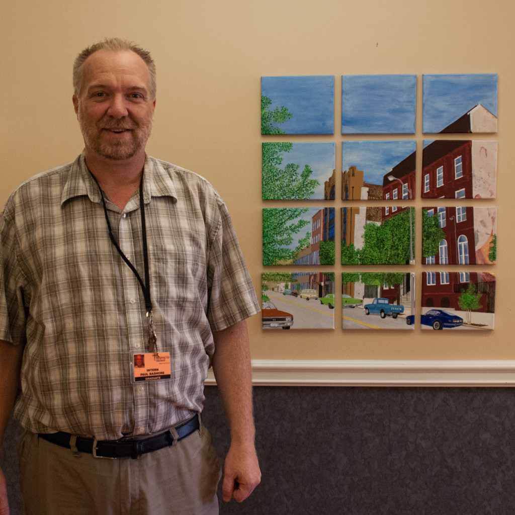 Paul has his GED and is studying to be an art therapist!