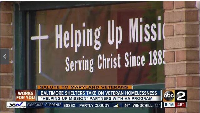Baltimore Shelters Take on Veteran Homelessness