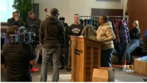 Baltimore Ravens 16th Annual Coat Giveaway Warms Up Homeless As Winter Approaches