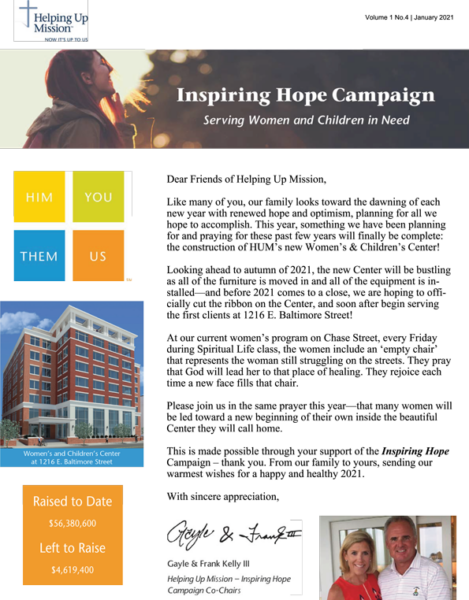 Inspiring Hope Campaign Newsletters